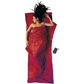Cocoon TravelSheet seta cotone, rosso